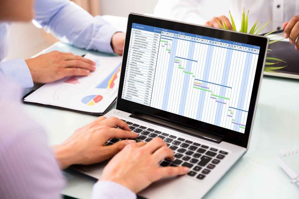 Projektmanagement Software Cloud mit Gantt