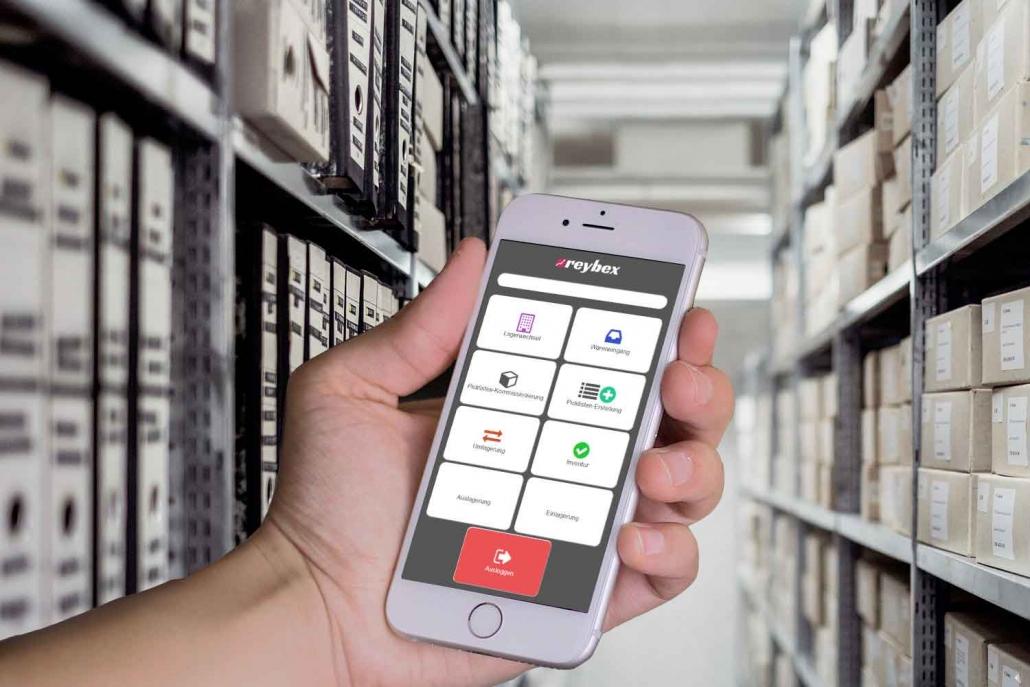Mobile Lager App reybex Cloud ERP